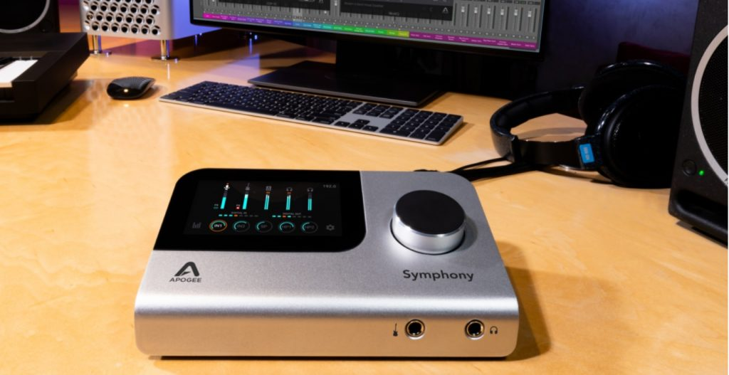 The Apogee Symphony Desktop fits easily on your desk