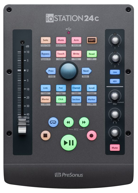 The ioStation 24C is a solid controller and interface with 192 kHz resolution